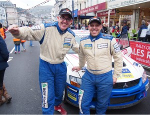 Mike Faulkner and Peter Foy, National Rally winners